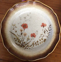 "Mikasa WHOLE WHEAT JARDINIERE E8016 -salad plates/bread Butter/8""/tan/beige/mint"