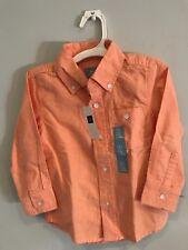 NWT Baby Gap orange dress shirt size 3 years