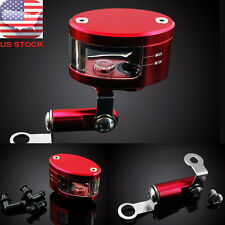 Universal Brake Reservoir Oil Cup CNC For Honda CBR900RR CBR954RR CBR1000RR Red