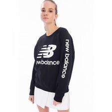 New Balance Essentials Nb Logo Crew Sweatshirt, Black, Size M