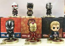 6 Pcs/Set Antman Captain America Ironman PVC Action Figure Collectible Model Toy