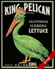 VINTAGE CALIFORNIA ICEBURG LETTUCE FRUIT POSTER FARM FOOD ART REAL CANVAS PRINT