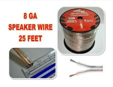 8 Gauge Speaker Wire Stranded Copper Clad Power Ground 25Ft Car Home Audio Cable