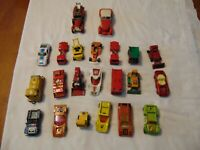 (22) Vintage Matchbox Lesney die cast cars hot rods fire engines trains tractor