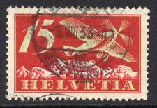 Switzerland 15 Cent Air Mail Stamp c1923-25 Used