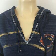 Majestic Chicago Bears Pullover Hoodie Sweatshirt Navy Blue Womens Jacket Size L