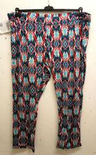 Pantaloni da donna media multicolore in misto cotone
