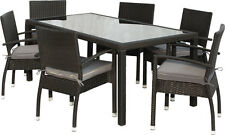 Premium 14-tlg BLACKCORD Sitzgruppe Polyrattan Gartenmöbel Stapelstuhl Tisch