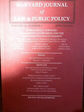Harvard Journal of Law & Public Policy Vol. 36, No. 1, 2013 new paperback