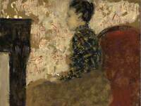 EDOUARD VUILLARD FRENCH WOMAN SITTING FIRESIDE OLD ART PAINTING POSTER BB5233B