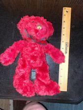 Russ Bears from the Past Cranberry Teddy Bear Burgundy Red Soft Bear w/ Tag 10�