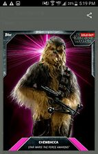 topps card trader CHEWBACCA star wars PINK LASER BURST digital 233cc AWARD