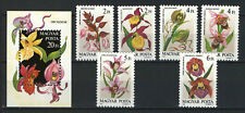 TWO IN ONE - HUNGARY 1987. FLOWERS / ORCHIDS SET + SHEET GARNITURE MNH (**)