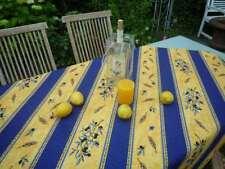 Mantel Provenza 130x150 Cm Azul Amarillo Olivas de Francia, Fácil de Cuidar
