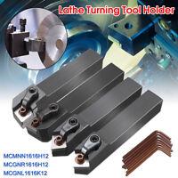 4Pcs MCMNN1616H12 + MCGNR1616H12 + MCGNL1616K12 CNC Lathe Turning Tool Holder