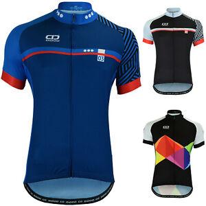 Didoo Cycling Jersey Mens Short Sleeve Summer Bicycle Full Zipper MTB Racing Top