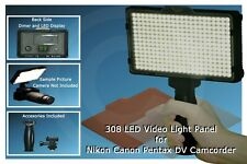 Dimmable 308 LED Video Light Panel for Nikon, Cannon, Pentax, DV Camcorder