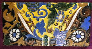 "Antique Santa Ana Rodriguez Diaz Seville Spain Majolica Tile 5 1/2"" By 11"""