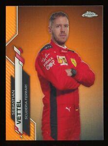 2020 Topps Chrome Formula 1 F1 #3 Sebastian Vettel Orange Refractor 10/25