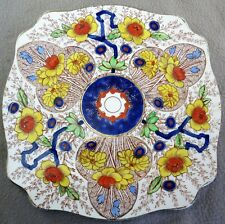 "A J Wilkinson Royal Staffordshire Scalloped 9"" Square Cairo Art Deco Plate"