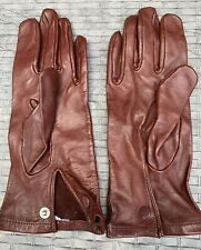 RAF & ARMY BROWN LEATHER OFFICERS MEN'S DRESS GLOVES - No size . British Issue