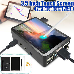 """3.5"""" inch LCD Touch Screen Display Monitor For Raspberry Pi 4 B with Bla"""