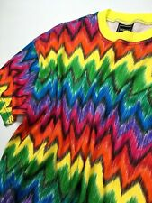 VERSACE J COUTURE VINTAGE '95 V-WAVES T SHIRT TOP MEN RAINBOW MULTI COLOR ITALY