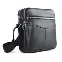 New Men's Genuine Leather Crossbody Bag Satchel Shoulder Bag Briefcase Business
