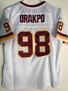 Reebok Women's Premier NFL Jersey Washington  Brian Orakpo White sz 2X