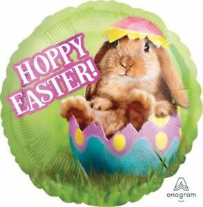 Hoppy Easter Bunny In Egg Balloon 45cm Foil