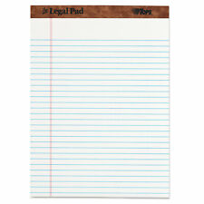 Tops The Legal Pad Ruled Perforated Pads 8 12 X 11 34 White 50 Sheets Dozen