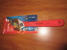 """NOS CRESCENT ADJUSTABLE WRENCH 10"""" AC110CV USA MADE RED RUBBER HANDLE TOOL NIP"""