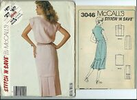 "LADIES /""V/"" NECKLINE PRINCESS SEAM DRESS /& JACKET PATTERN  8-18 uc STYLE #2769"