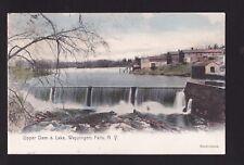 c1906 handcolored  Upper Dam & Lake Wappingers Falls New York postcard