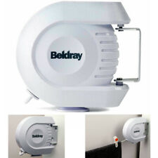 New Beldray 12 Metre Retractable Clothes Line, Wall Mounted Clothes Reel White
