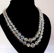 Sparkling, Vintage, Double Strand, Aurora Borealis Necklace