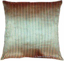 Handmade 16'' Square Cushion Pillow Cover Silk Dupion Sofa Throw Home Decor