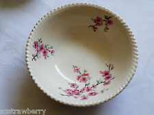 VTG OLD ENGLISH JOHNSON BROTHERS ENGLAND SERVING BOWL CREAM COLOR PINK BLOSSOMS