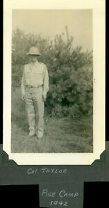 WWII 1942-44 US Army Pine Camp, NY GI's Photo of Col Taylor