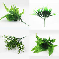 Bush Foliage Artificial Plants Outdoor Indoor Fake Leaf Home Garden Office Decor