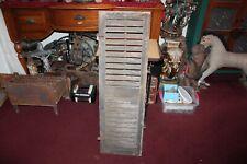 Antique Wood Window Shutter Country Barn Farm Primitive Shutter #10 Shabby Chic