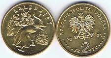 KOLEDNICY 2001 2 Zl Muenze Nordic-Gold, BFR, selten