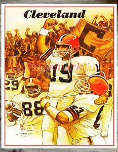 NFL Cleveland Browns Bernie Kosar Art Print Color 8 X 10 Photo Reprint