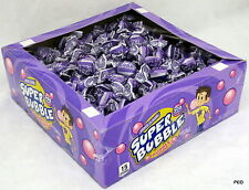 Super Bubble Grape Gum Box 300 Pieces Chewing Bulk Bubbles Grapes Candy Candies
