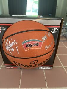 David Robinson San Antonio Spurs Signed Spalding Basketball with HOF 09 Insc