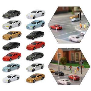 100pcs N Scale Model Cars 1:160 Building Trains Layout Set C150