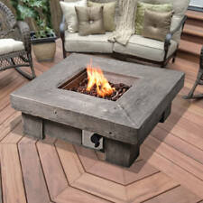 Garden Fire Pit Outdoor Gas Firepit LPG - 90cm Square