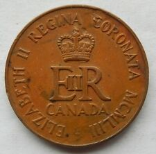 1953 Canada Queen Elizabeth II Coronation Medallion Token Coin  SB6111