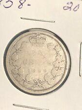 1858 20 CENT CANADA KEY DATE!