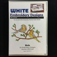 Birds Embroidery Designs Card Fits  Deco Brother Baby Lock White Simplicity